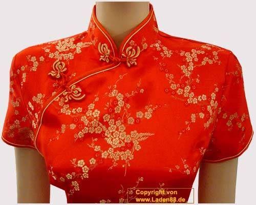 MatchLife Damen Leinen Tops Klassisches Vintage T-Shirt Chinesisch V ...